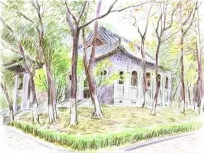 大门不远处一片小树林里掩映着有一座小房子,古朴典雅,宁静端庄.