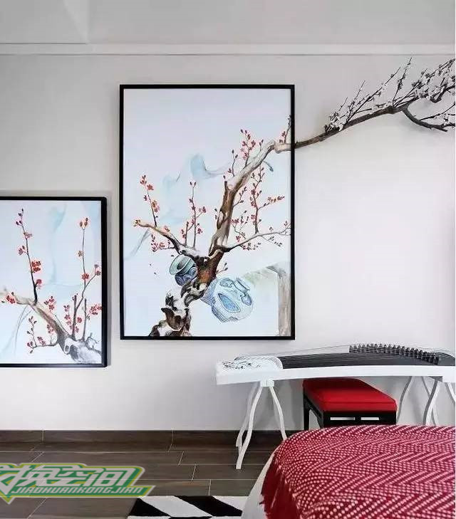 琴瑟琵琶,在新中式的家居的里出现一点也不足为奇图片