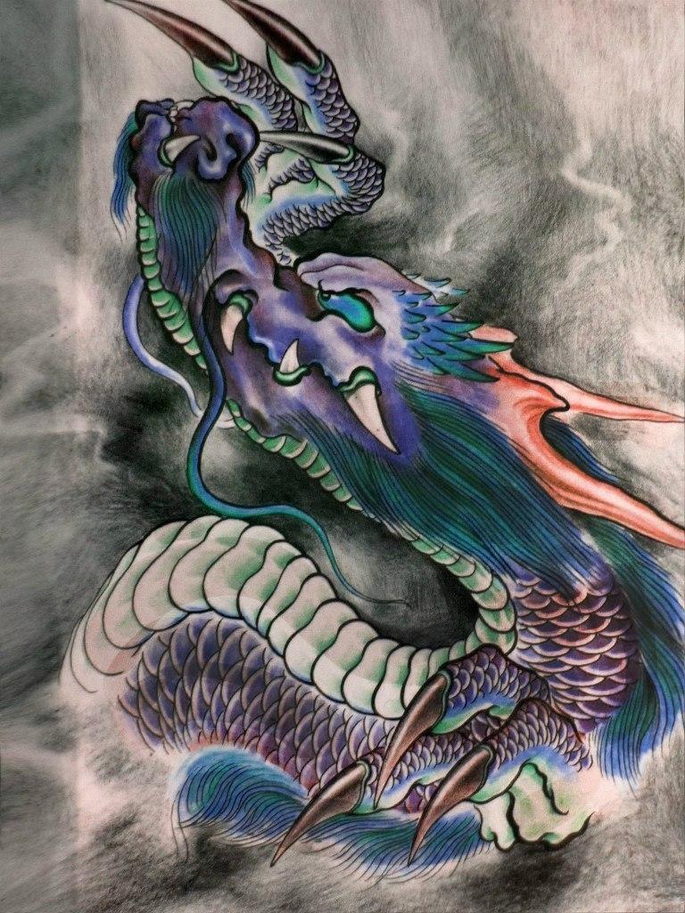 多看看传统纹身手稿图片