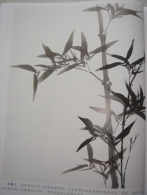 国画水墨画竹子的各种入门技法画法步骤图文详解