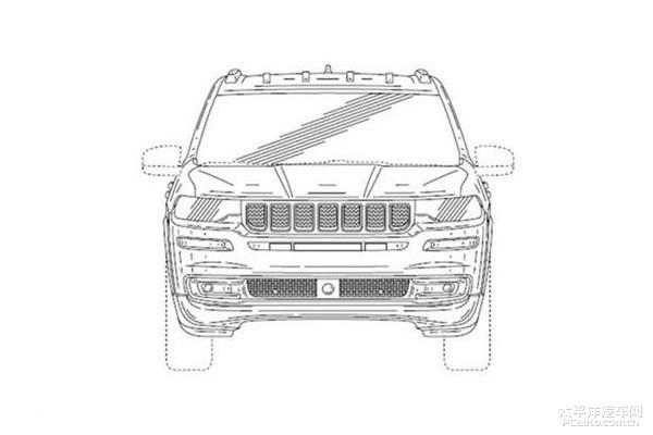 Jeep全新7座SUV专利图曝光或为新瓦格尼