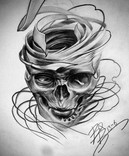 黑灰色的纹身手稿,同样很精彩图片