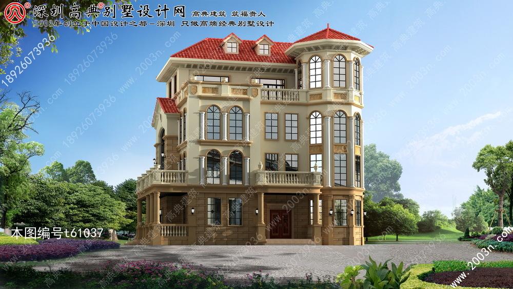 欧式别墅外观设计, 最新别墅外观效果图, 最新农村别墅效果图图片
