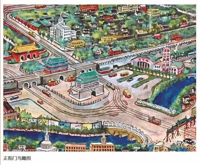 北京老人手绘北京城 还原半个世纪前的韵味