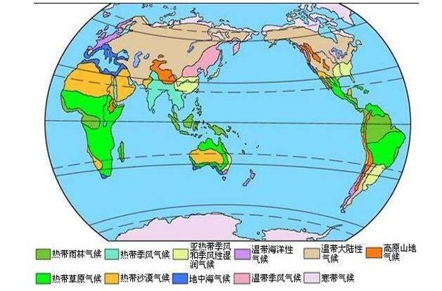 世界各地区那些特殊的气候分析
