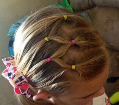 1儿童节快到了,送给你们儿童扎头发教程,家有女儿的图片
