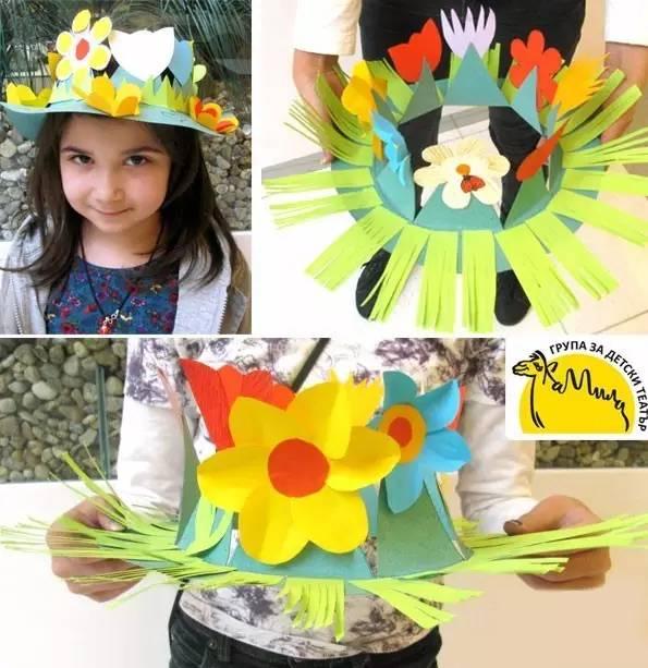 这款应该是很多女孩子喜欢的鲜花帽子,到处洋溢着春天的味道.图片
