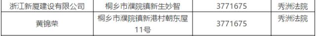 桐乡一大波老赖被曝光,欠了2000多万不还!