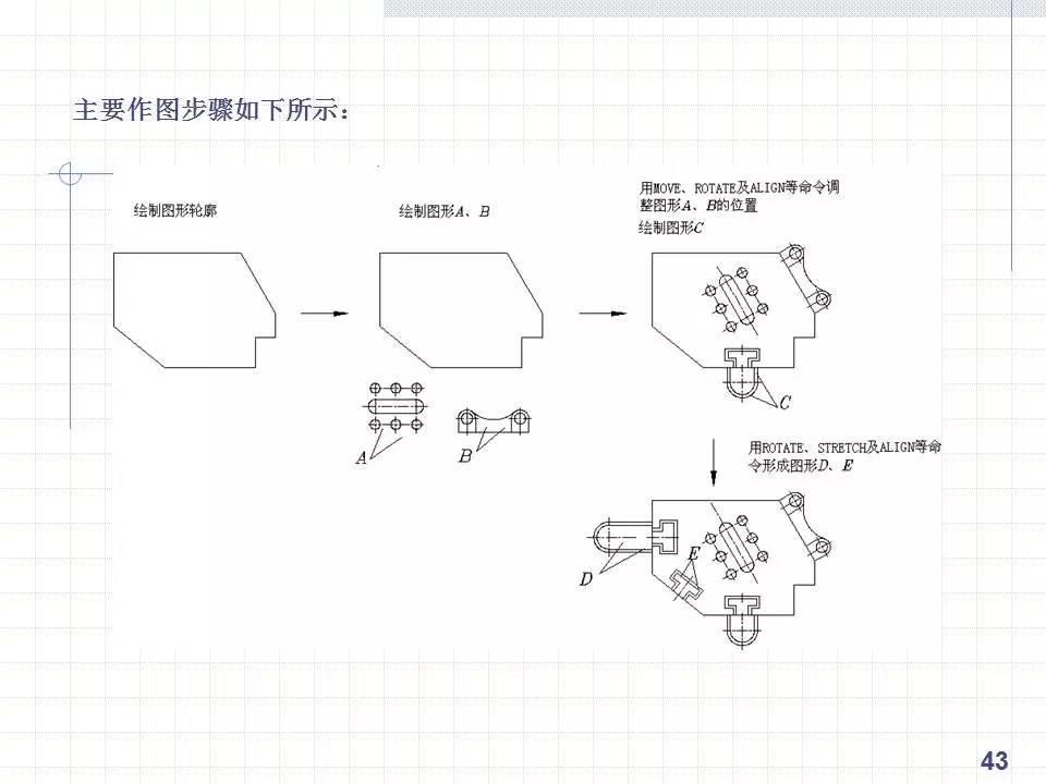 cad绘制复杂机械技巧的方法和平面!手把手一学就!图形设计制造技术学校图片