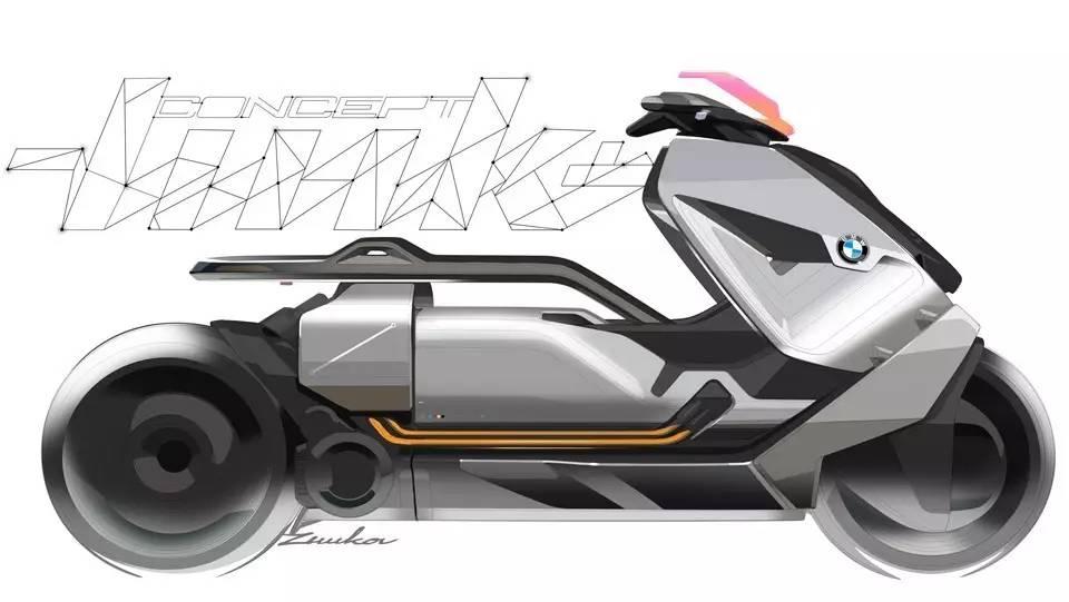 宝马又发表一款科幻的电动踏板车:concept link