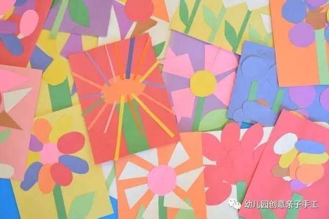 幼儿园手工之卡纸粘贴画 超级有创意,陪孩子玩玩-简单好看的彩纸粘