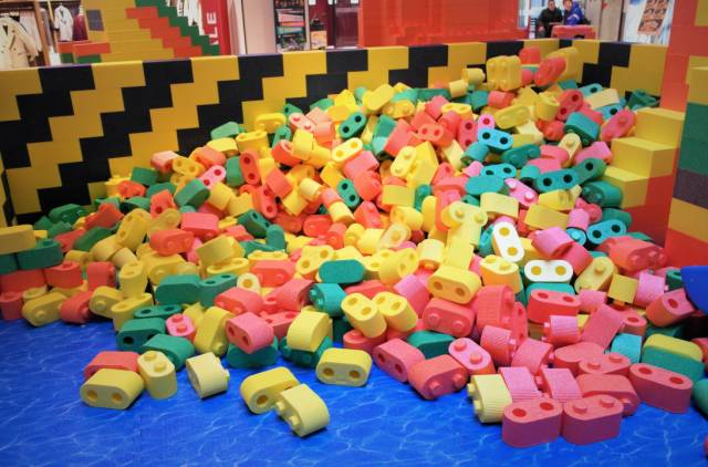 的飞起 20万积木 300㎡容纳海洋球 蹦床 滑梯乐园 六一开启免费畅玩图片
