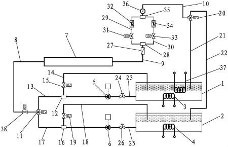 第二端端部安装有具有一输入通口和二输出通口的分流电控气动三通阀图片