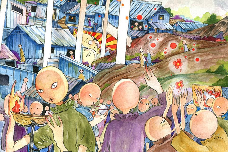 《大护法》发斗版系列海报 花生镇日常状态显露