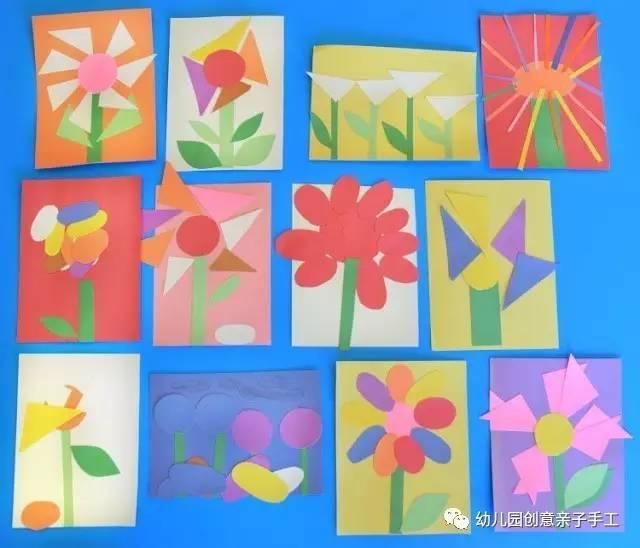 幼儿园手工之卡纸粘贴画 超级有创意,陪孩子玩玩