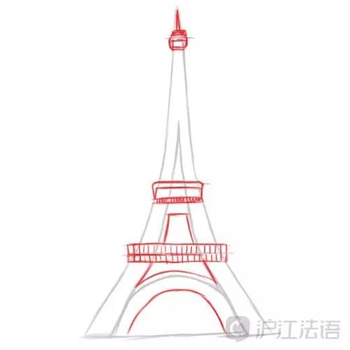 7步简笔画 埃菲尔铁塔,超简单图片