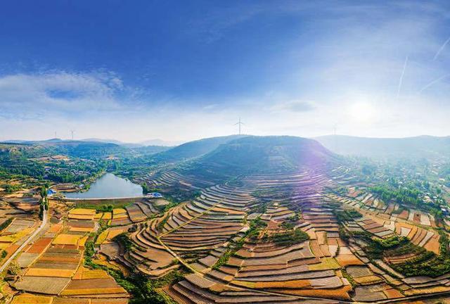 美丽乡村:大美徐庄,分水岭红石嘴梯田美景