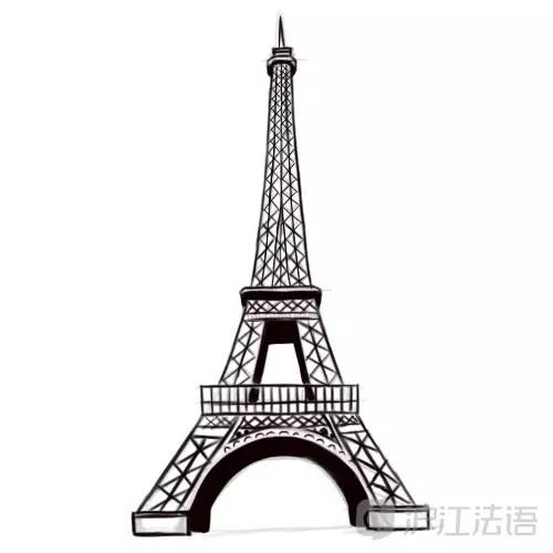巴黎铁塔铅笔画步骤图-7步简笔画 埃菲尔铁塔,超简单