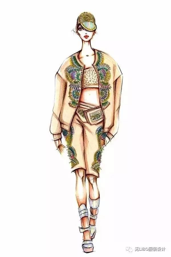 手绘服装效果图【上色】步骤讲解(成衣/效果图对照)