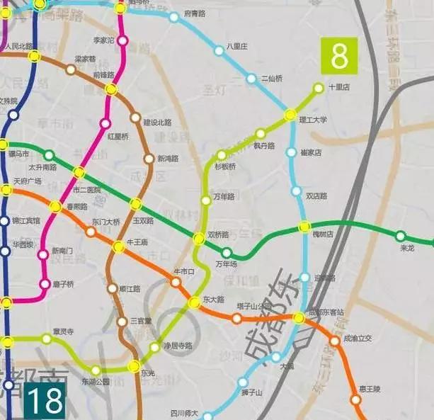 地铁1 18号最详细线路图,干货分享