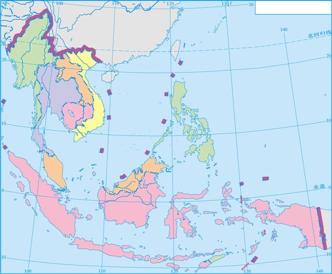 超级棒的世界区域地理色彩图,5分钟就能掌握世界地理!图片