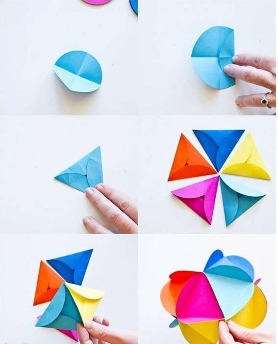 幼儿园亲子手工折纸制作大全:相框小船花球吊饰等,简单实用!图片