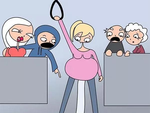 一位妈妈用搞笑插画告诉你,怀孕时才会有的尴尬和滑稽图片