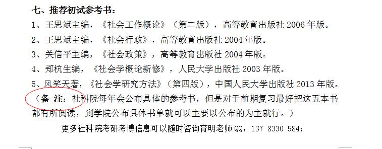 """2018年社科院社工MSW专业考研真题、考研参考书"""""""