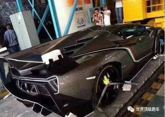中国唯一一辆9000万兰博基尼,全球限量3台,车牌都没地方挂