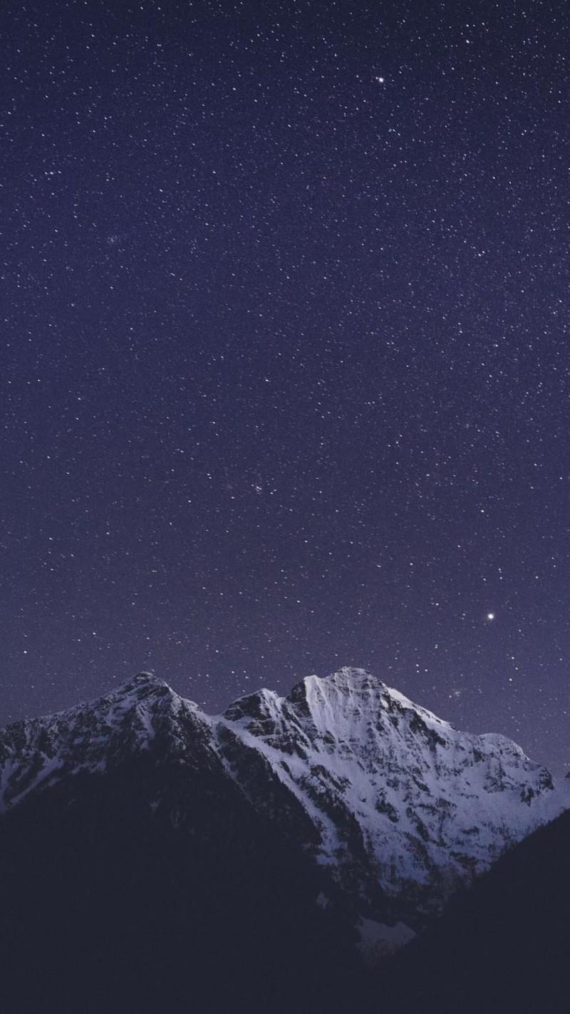 唯美夜晚星空风景手机壁纸图片