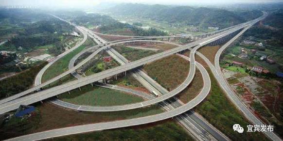 高速公路宜宾象鼻互通式立交.