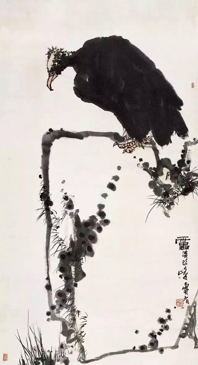赏析潘天寿花鸟真迹图片