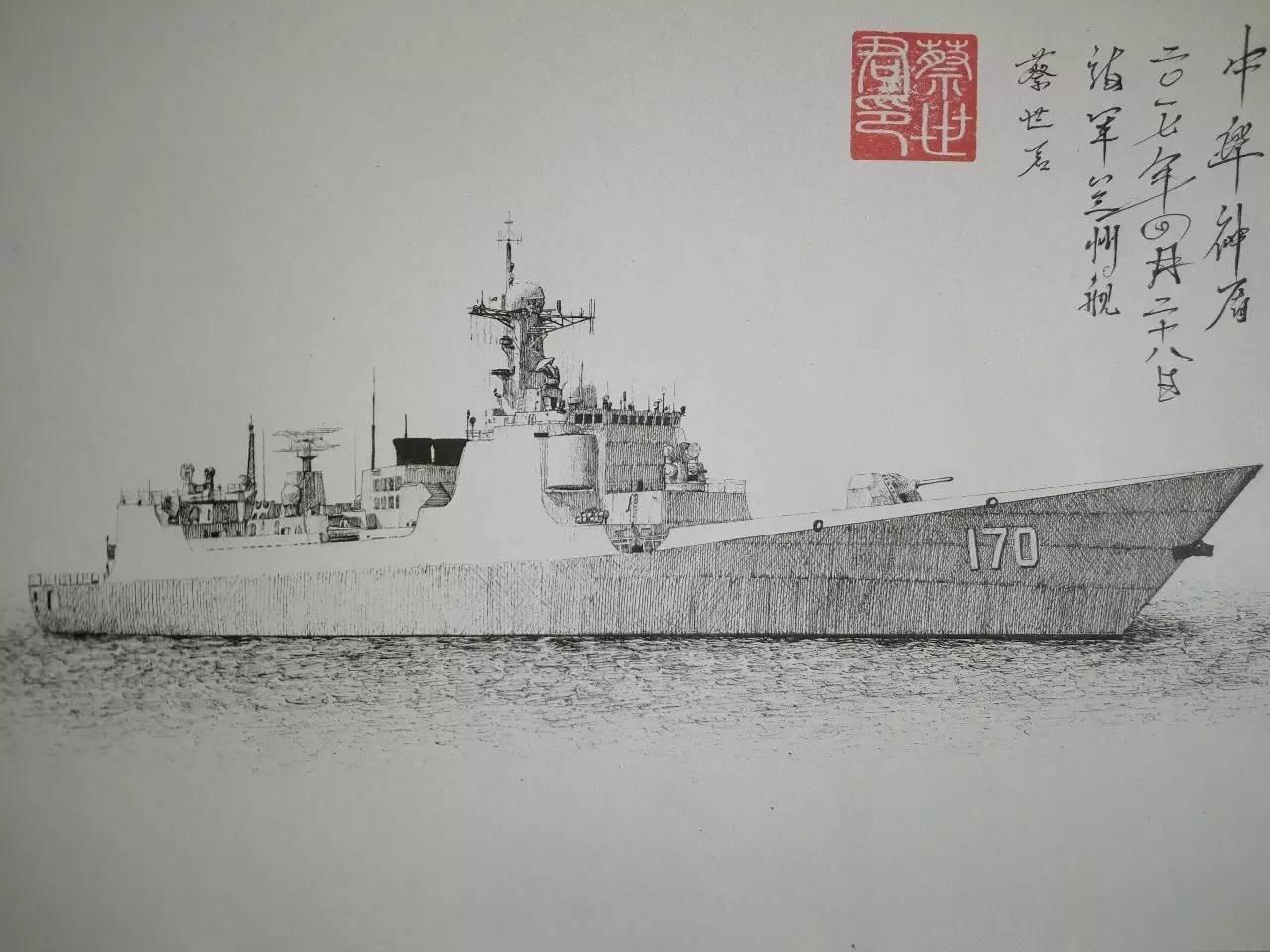 军迷手绘超逼真战舰,战机,你能认出几个?