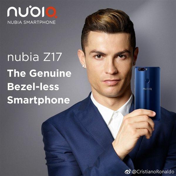 nubia Z17亮相:C罗代言,无边框+双摄的照片 - 1