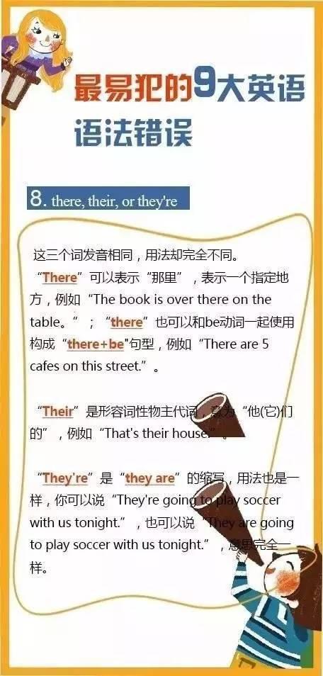 初三二模英语考试最易犯的9大语法错误 早看早知道图片 66282 456x954