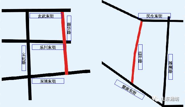 潍坊这五段道路要进行整修,过往车辆请注意
