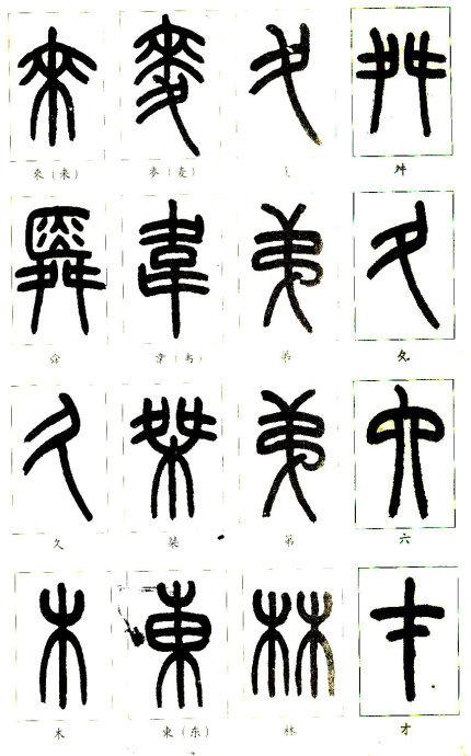 从部首开始学篆书
