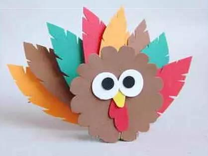幼儿手工制作 火鸡的制作方法大全