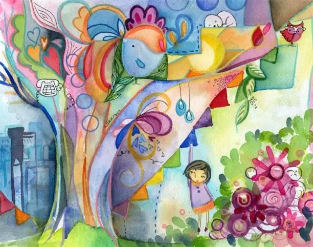 幼儿园儿童水彩画素材 太美了