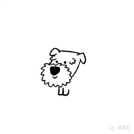 看了这些简笔画,小艺也特别想 二、小动物   小老头雪纳瑞