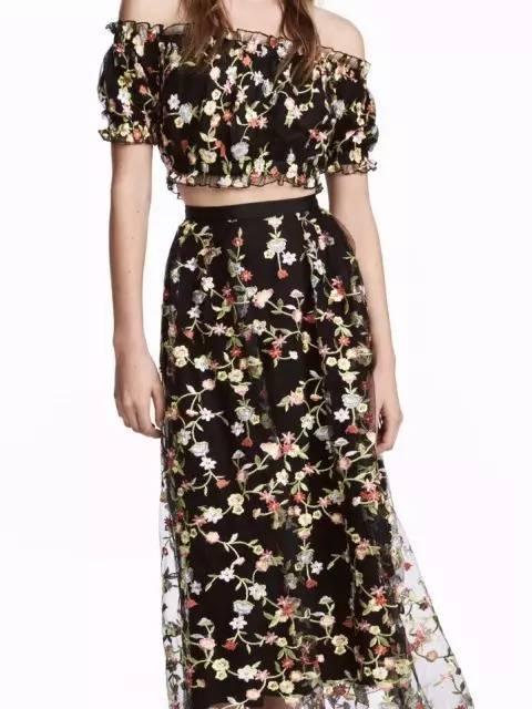 两截式刺绣连衣裙-刺绣裙,今夏不能错过的时髦单品
