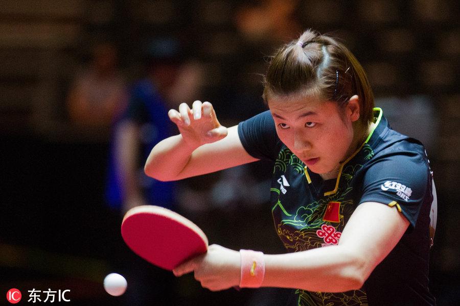 时间当地正文2017年6月2日,德国杜塞尔多夫,2017乒乓球世锦赛女单1赵珊珊排球图片