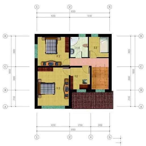 9x9农村别墅三层平面图