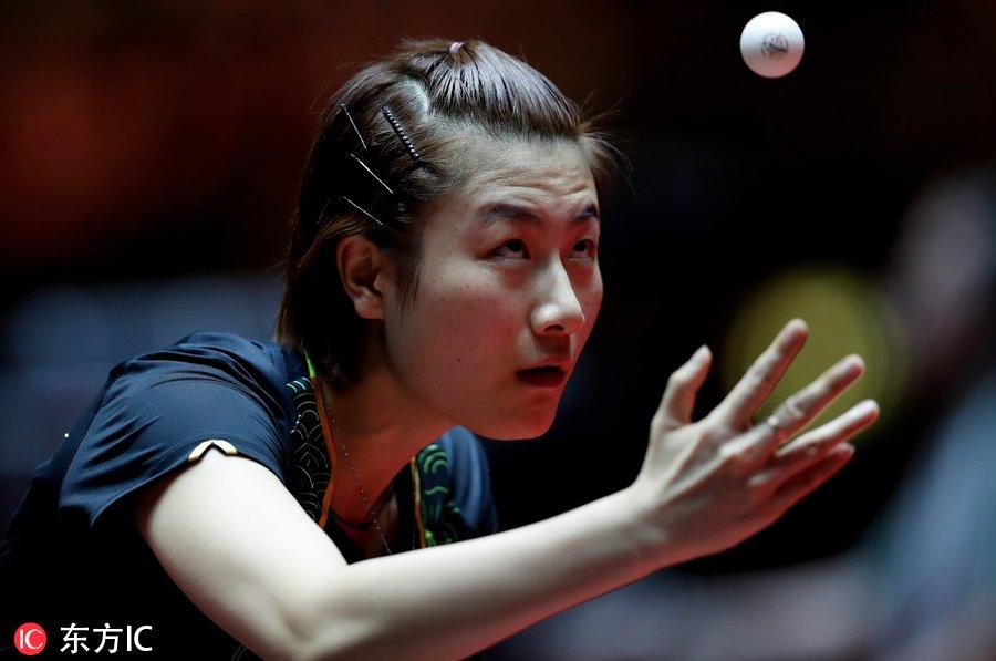 正文当地高手2017年6月2日,德国杜塞尔多夫,2017乒乓球世锦赛女单1周庄乒乓球俱乐部时间图片