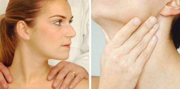 实践技能真题解析 背面触诊甲状腺和浅表淋巴结
