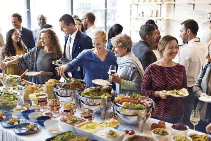 精致的自助餐炉点心架,美味的菜品,美食的真谛!