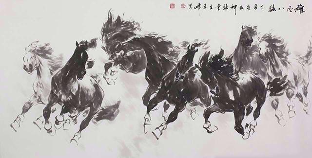 画家乔建峰:此马非凡马