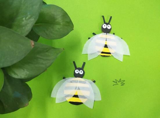 创意手工丨勤劳的小蜜蜂图片