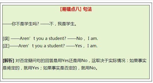 """""""实验班""""保密资料:这8个英语易错点,期末必考"""