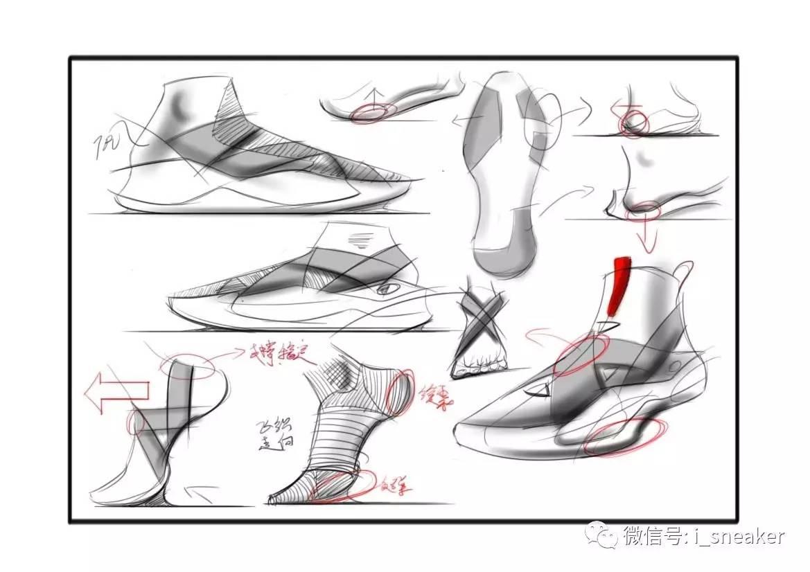 来稿丨球鞋设计师黄维正球鞋手绘作品